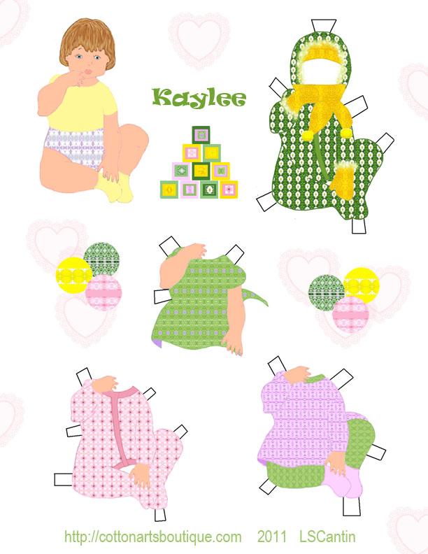 Kaylee paper doll