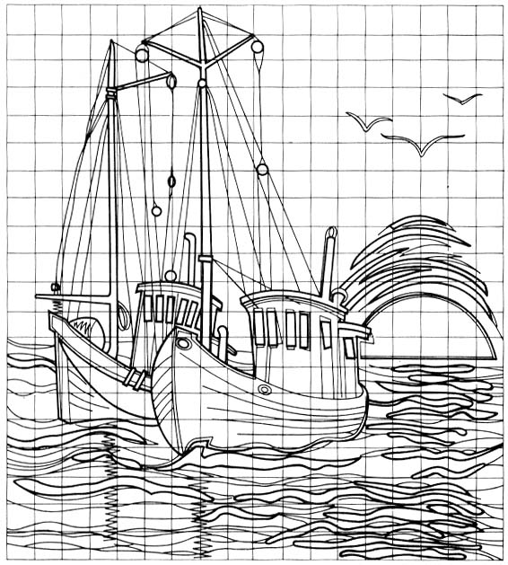 fishing boat pattern