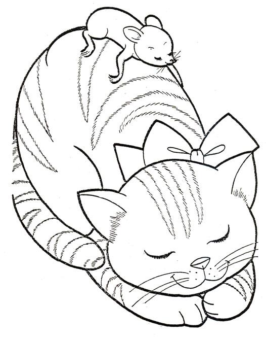 Christmas kitten and friend
