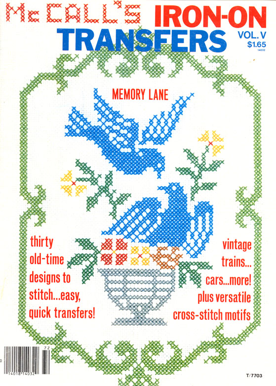 McCall's Memory Lane Embroidery Book cover