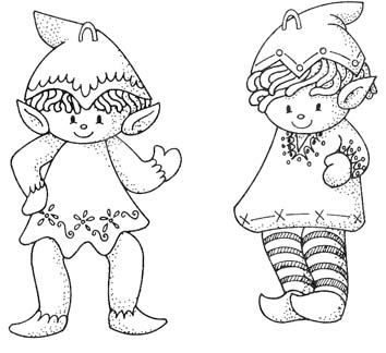 cute Christmas Elves pattern