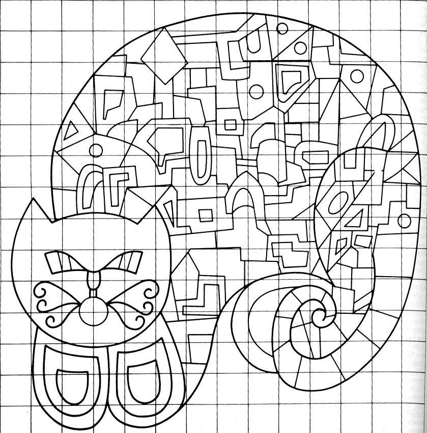 crewel cat pattern