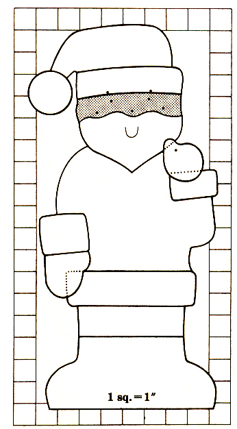 Santa Door Ornament Pattern