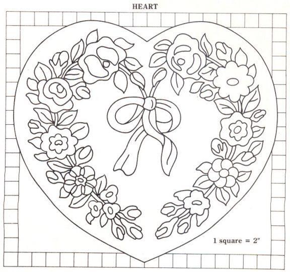 heart rug pattern