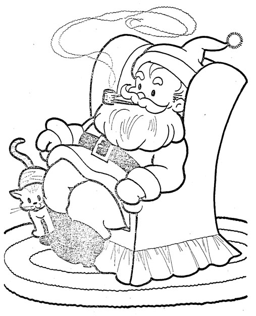 Santa siting in his chair