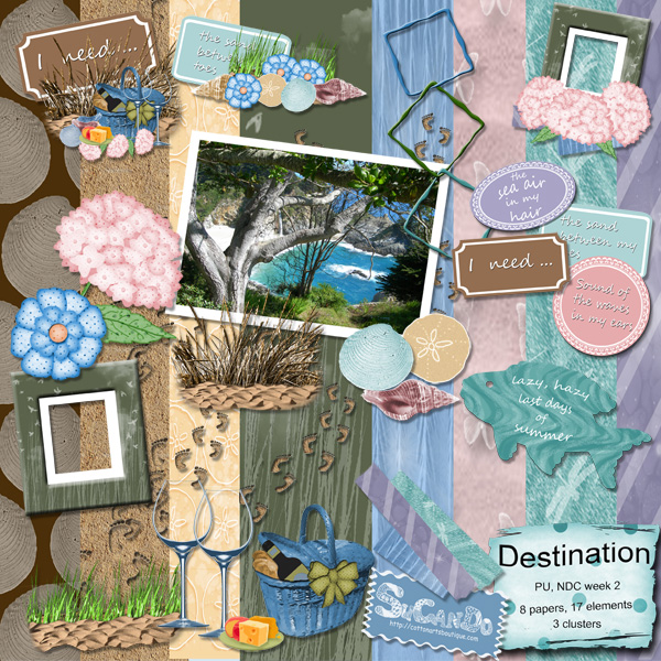 Destination scrapbook kit