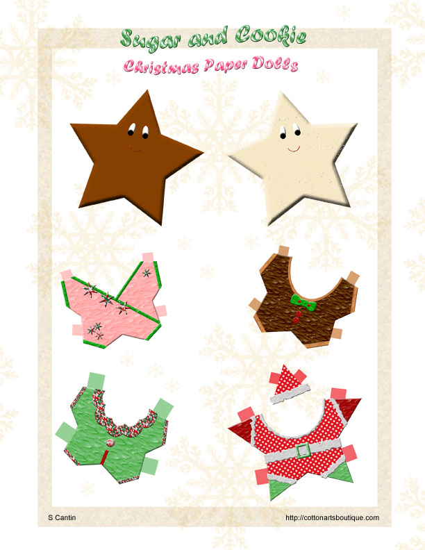 Sugar and Cookie Paper Dolls