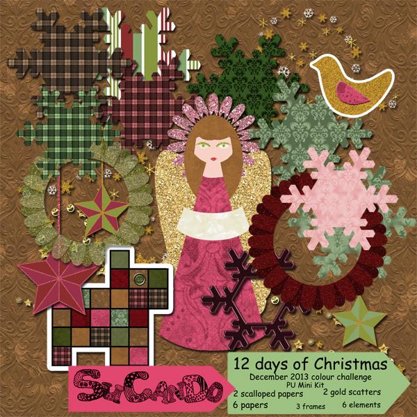 12 days of Christmas mini kit
