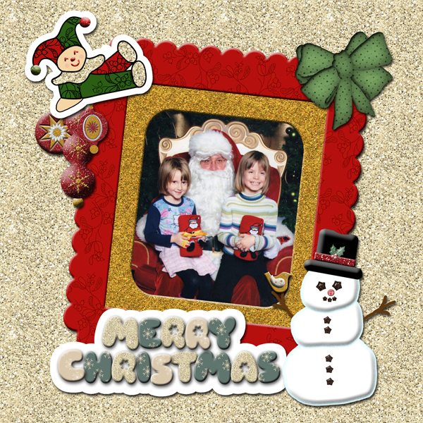 Old Fashioned Christmas Scrapbook Page 2