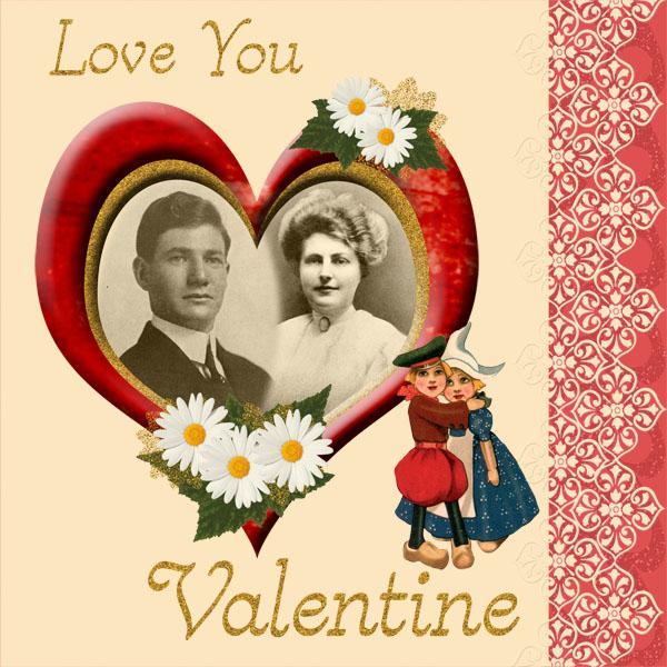 Scrapbook Page using February Valentines Mini Kit
