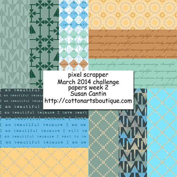 Pixel scrappers March challenge, week 2 papers