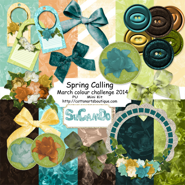 Spring Coming scrapbook mini kit
