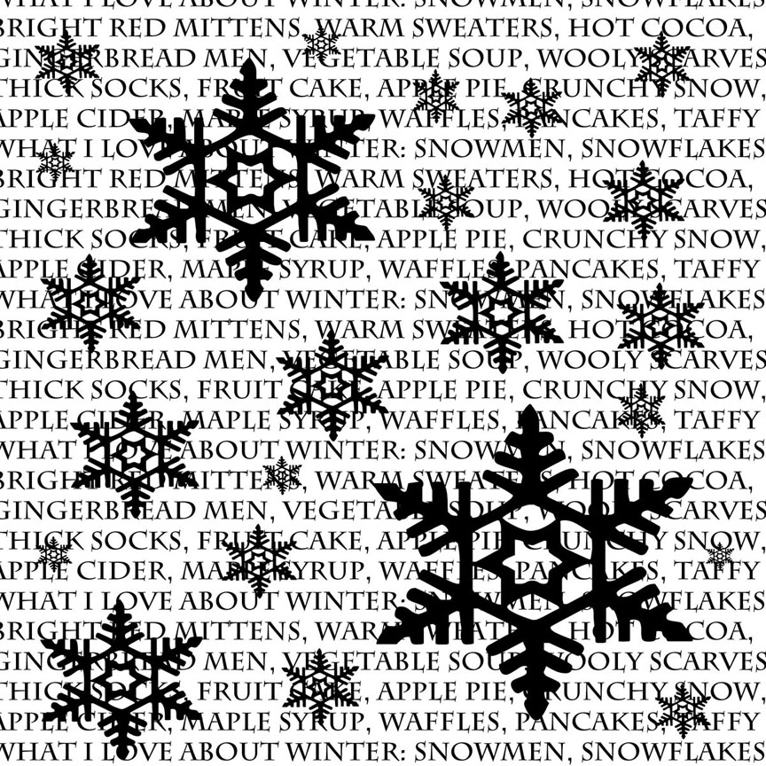 Winter-snowflake overlay