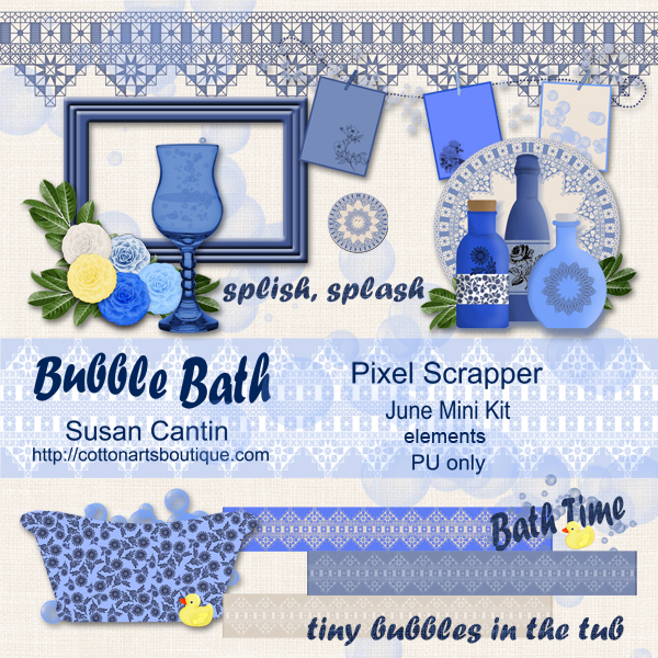Bubble Bath mini kit elements
