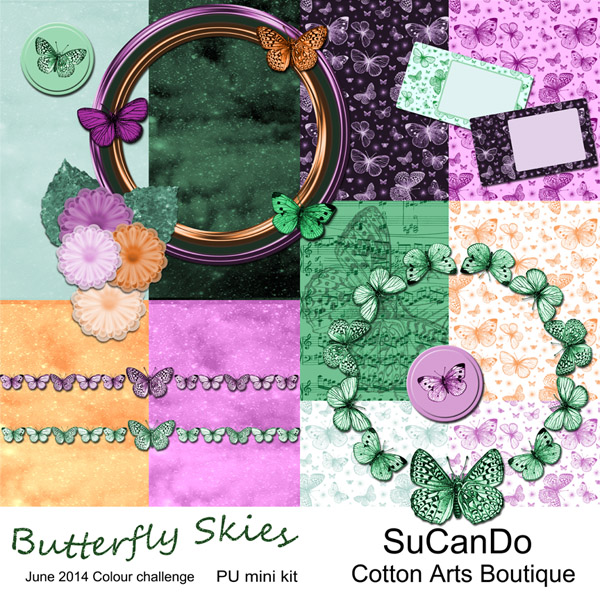 Butterfly Skies PU mini kit