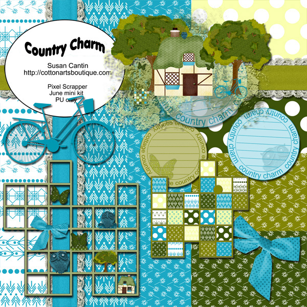 Country Charm mini scrapbook kit