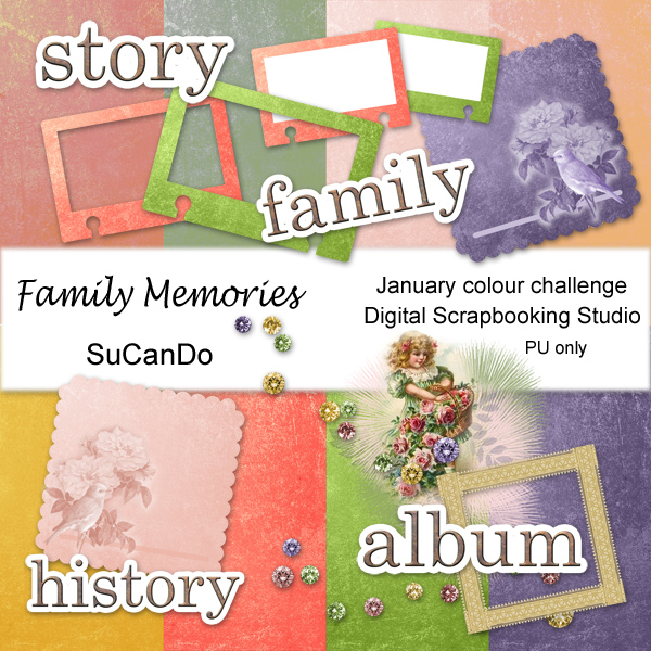 Family Memories Scrapbook Kit