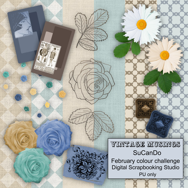 Vintage musings scrapbook kit