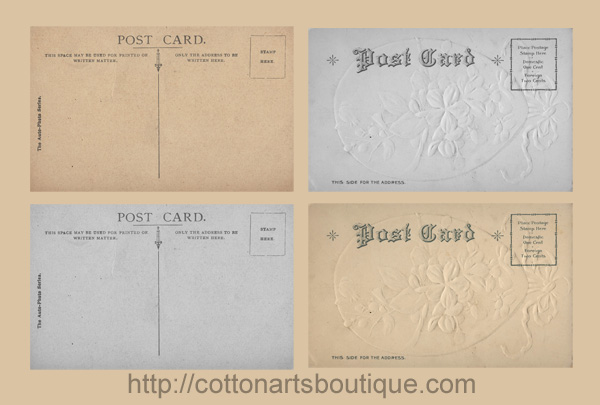 postcard backs