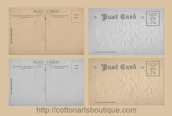postcard backs