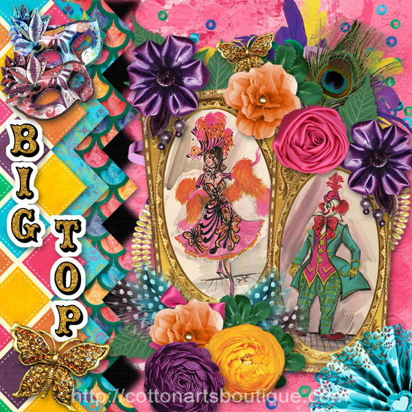 Big Top scrapbook page