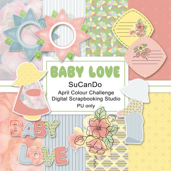 Baby Love scrapbook kit