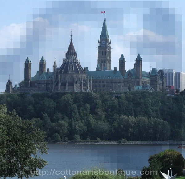 Ottawa Parliament Buildings with mosaic mask