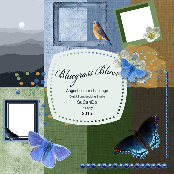 Bluegrass Blues Mini Scrapbook Kit preview