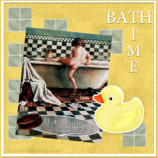 Bath Time with Pear Soap