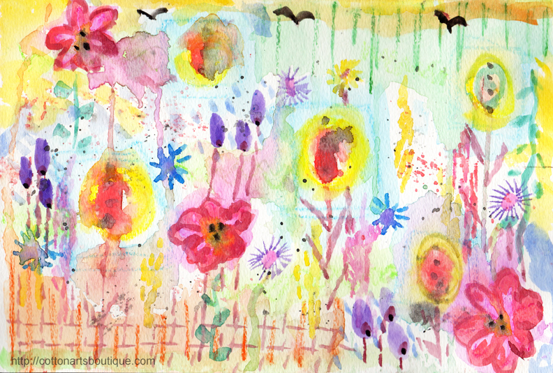 30 minute intuititve painting