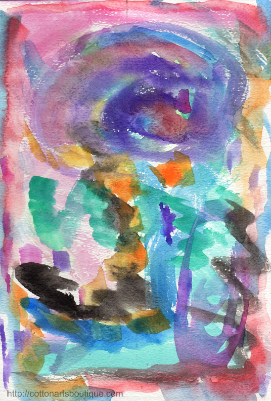 5 minute intuitive painting
