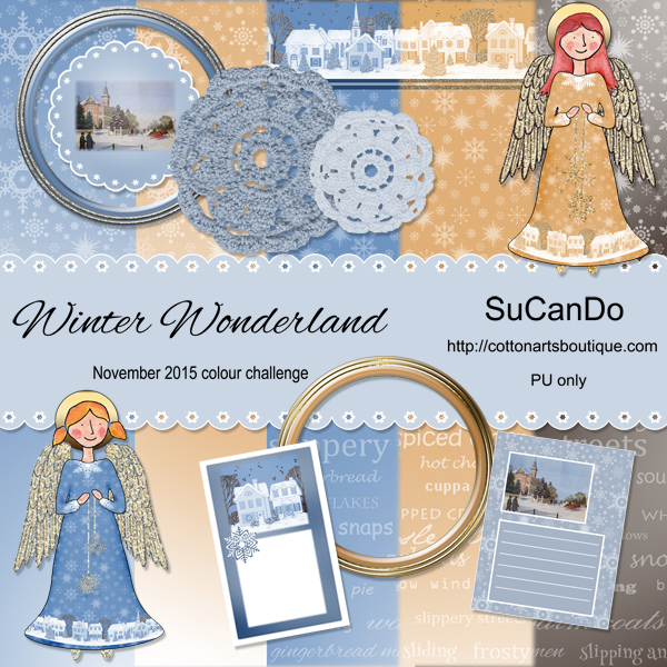 Winter Wonderland scrap book kit