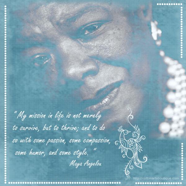 M . Maya Angelou