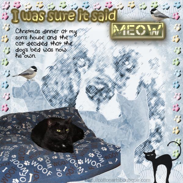 I was sure it said Meow
