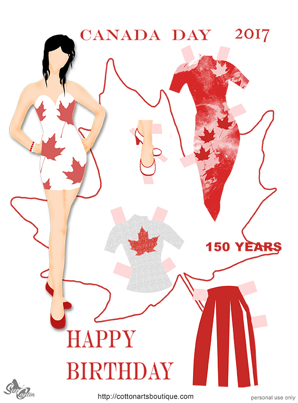 Happy Canada Day doll 1