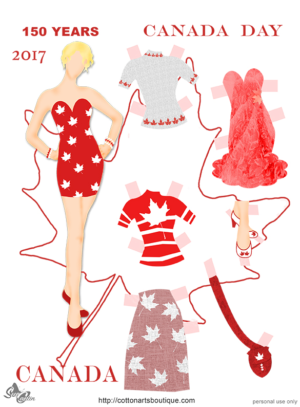 Happy Canada Day doll 2