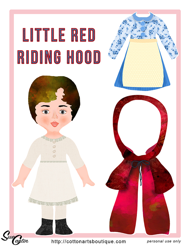 Little Red Riding Hood paper doll
