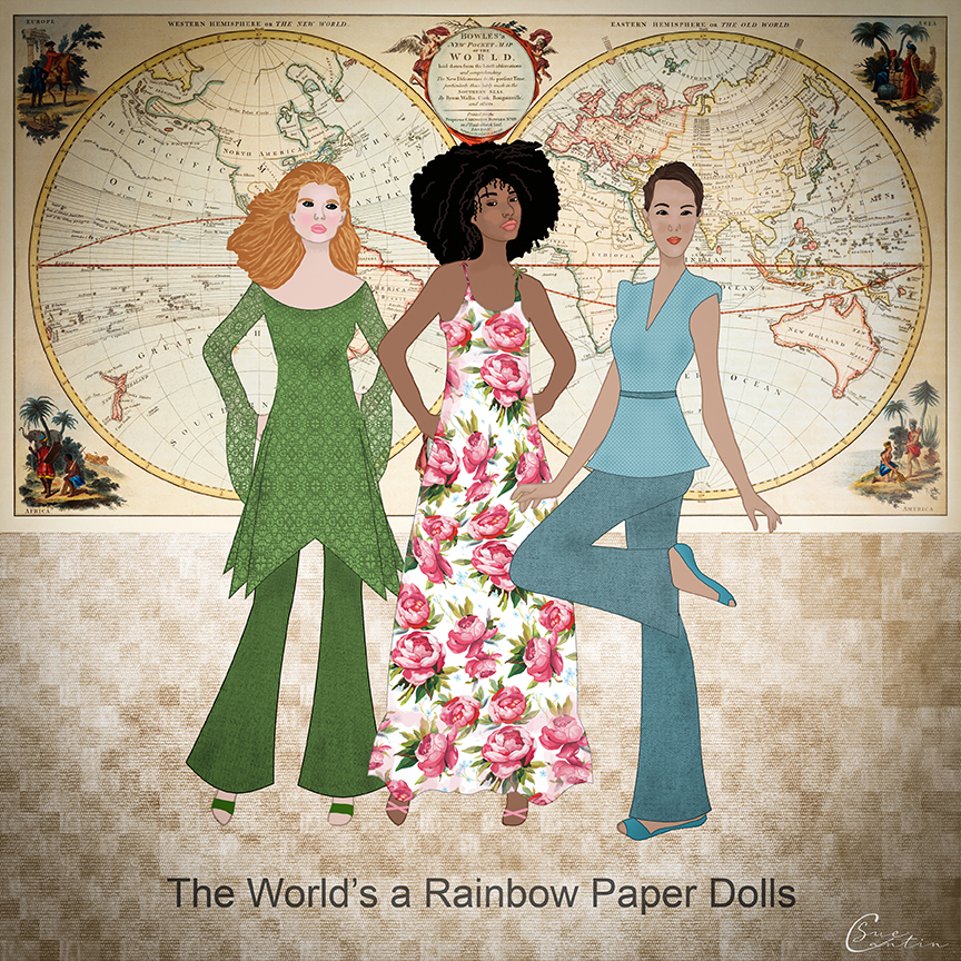1970's fashion paper dolls